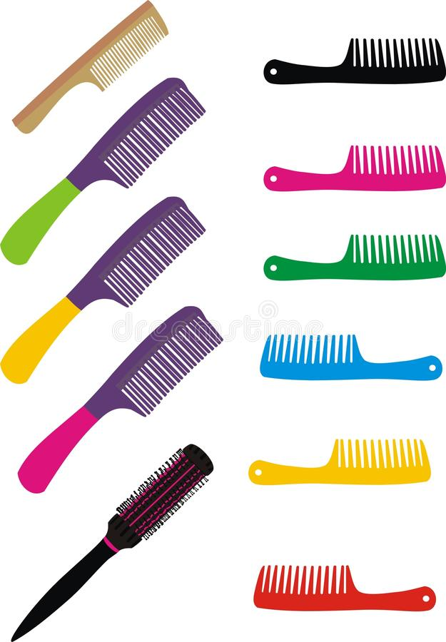 Download Set of hairbrushes stock vector. Image of collection - 18436718