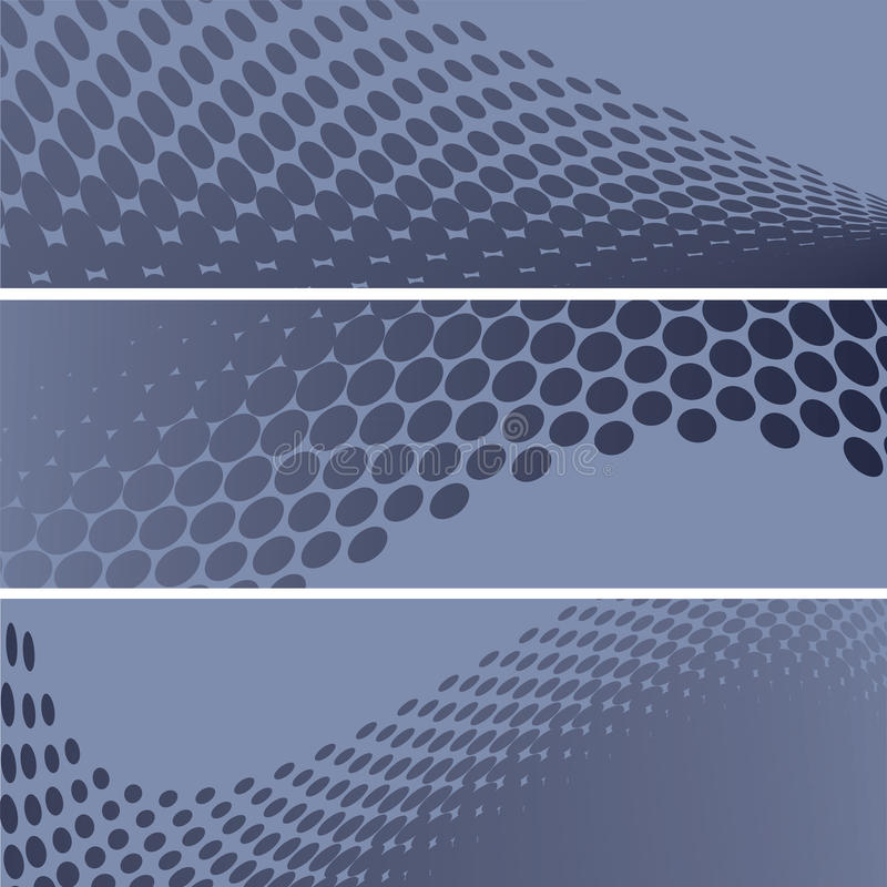 Set Of Halftone Banners Stock Photography