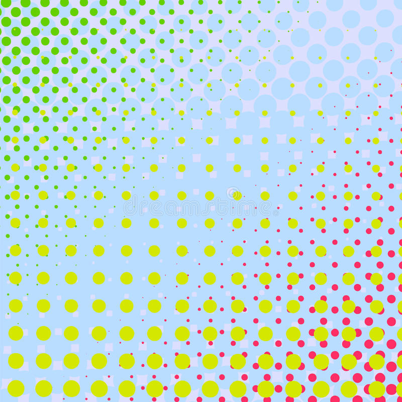 Set Of Halftone Dots Colorful Background Stock Vector