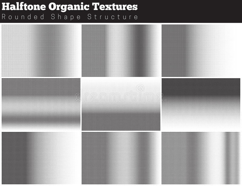 Set of halftone overlay textures. Collection of abstract halftone textures. Grunge halftone vector pattern on white background. Overlay textures vector illustration