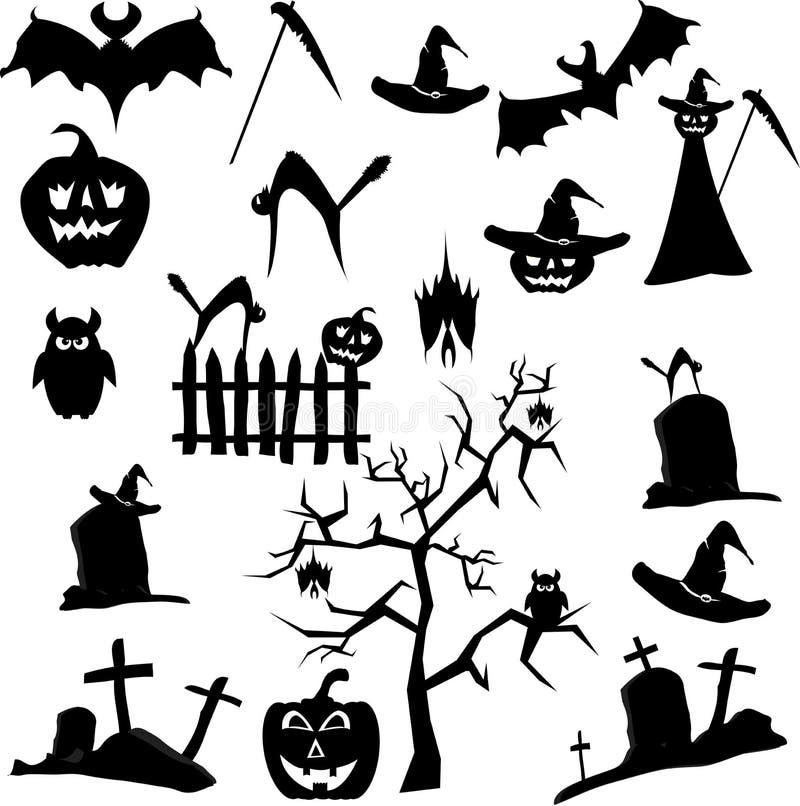 Set Halloween Royalty Free Stock Photo