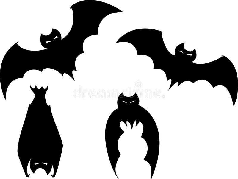 Set Of Halloween Bats Royalty Free Stock Image