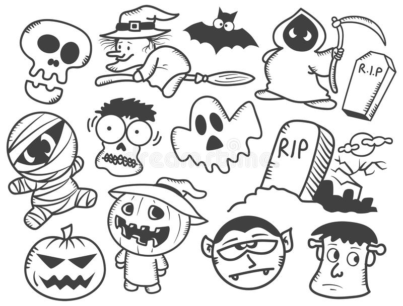 Halloween Cartoon Stock Illustration Illustration Of Coloring