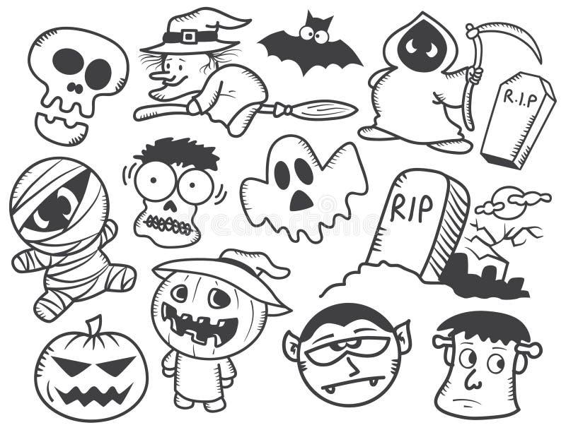download halloween cartoon stock illustration illustration of coloring 29862221 - Halloween Line Drawings