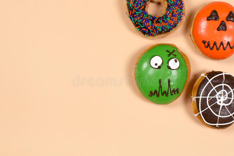 Set of halloween donuts royalty free stock images