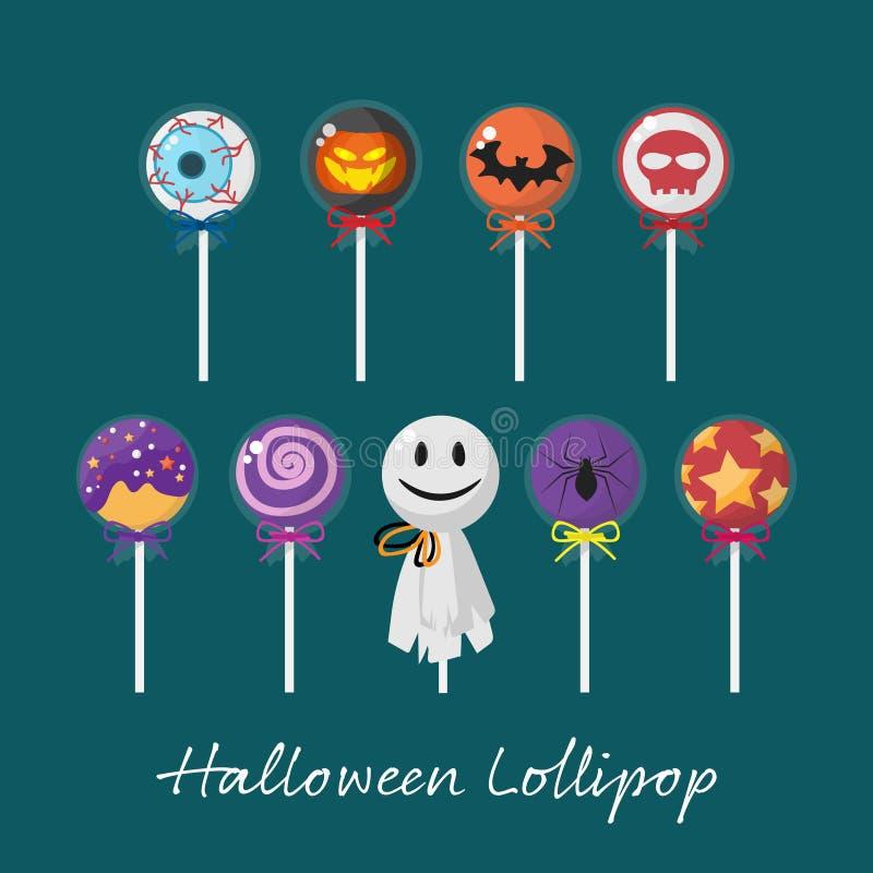 Set of Halloween elements with Halloween Lollipop royalty free illustration