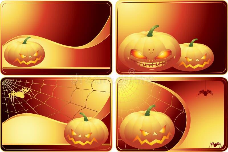 Set Halloween-Karten vektor abbildung
