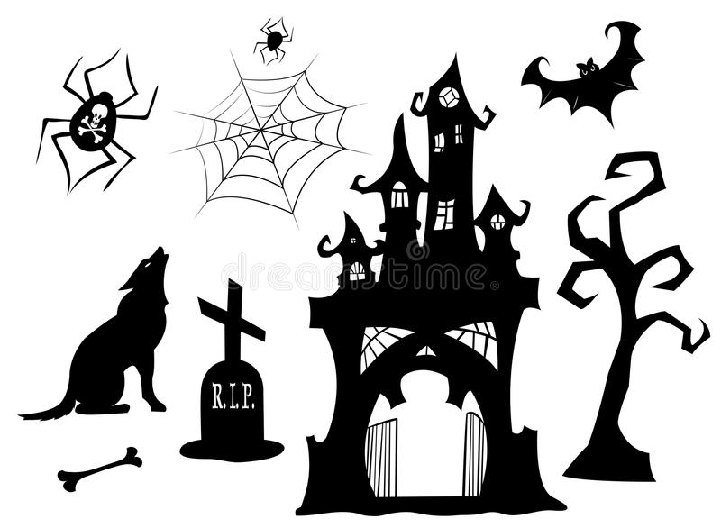 Download Set Of Halloween Silhouettes. Royalty Free Stock Image - Image: 21194816