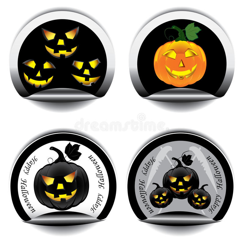 Download Set of Halloween stickers stock vector. Image of holiday - 26140803