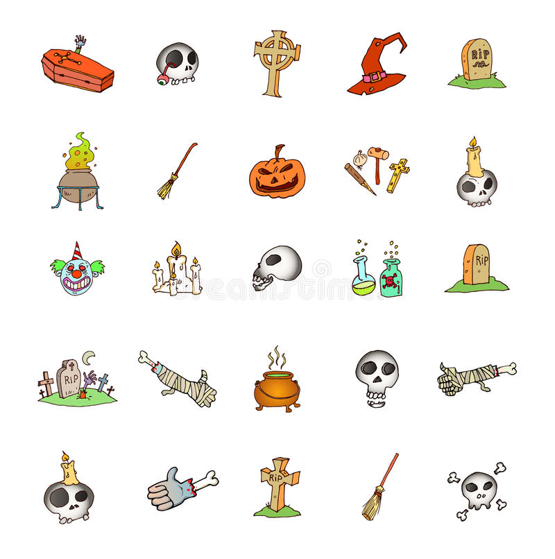 Set of halloween symbols stock vector. Image of horror - 42362473