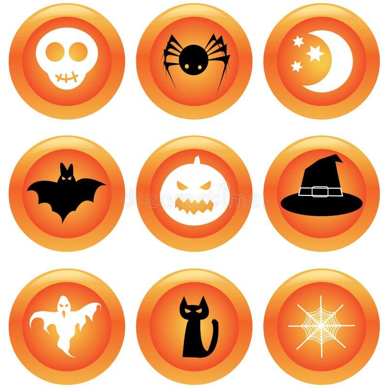Set Halloween-Tasten vektor abbildung
