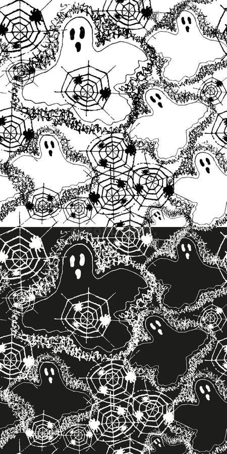 Download Set Halloween wzór ilustracja wektor. Ilustracja złożonej z sztuczka - 28971663