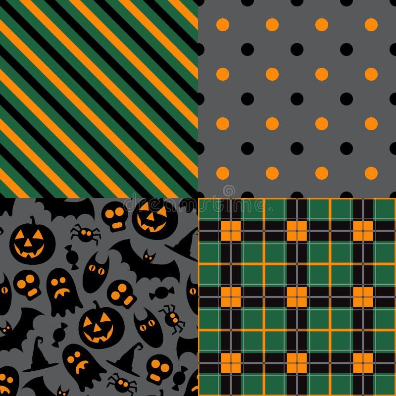 Set Halloween wzory royalty ilustracja