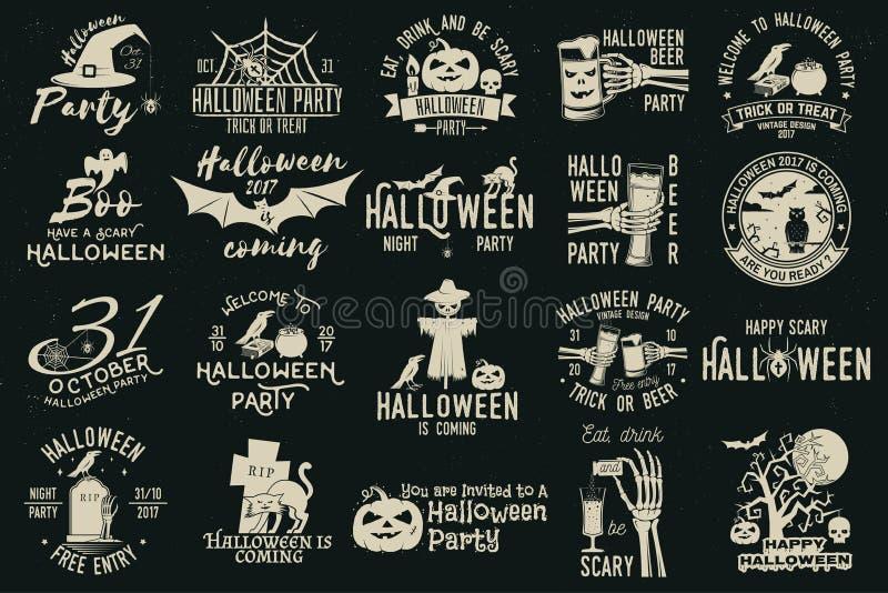 Set Halloweenowa świętowanie kolekcja ilustracji