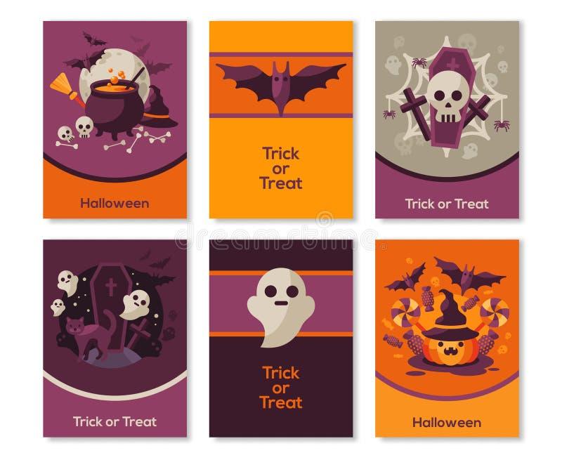 Set Halloweenowi pionowo sztandary ilustracja wektor