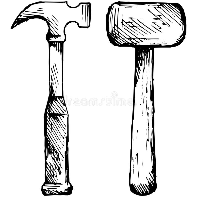 Set hammer royalty free illustration