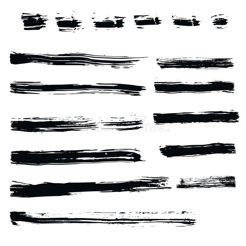 Set of hand drawn design elements. stock illustration