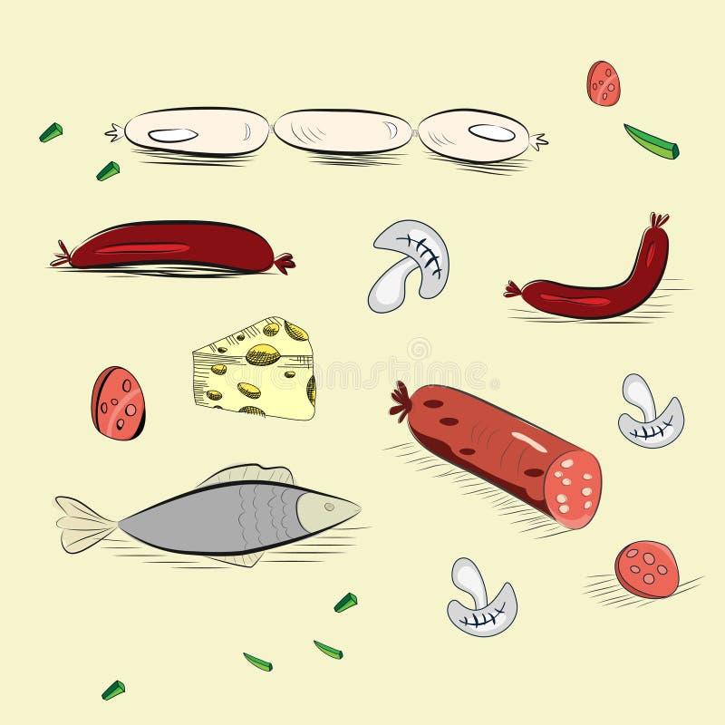 Download Set of hand drawn food stock vector. Illustration of sketch - 20134147