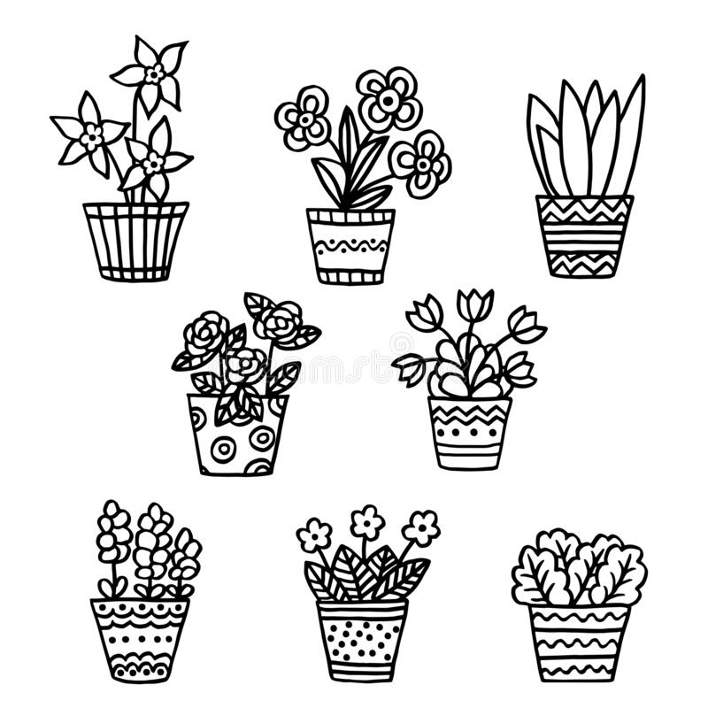 Flower Pot Coloring Page Free Coloring Pages Flower Pots Sleekads ... | 800x800