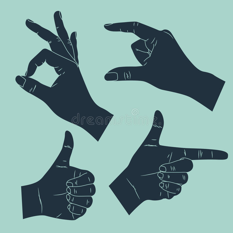 Download Hand gesture stock illustration. Image of index, hand - 29861782