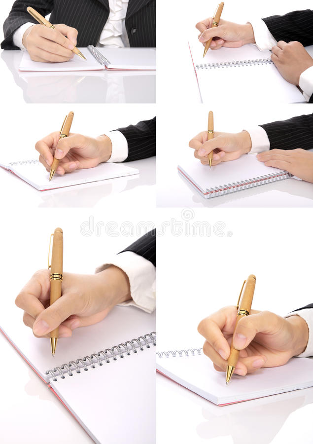 Download Set Of Hand Writing Woman stock photo. Image of white - 25564340