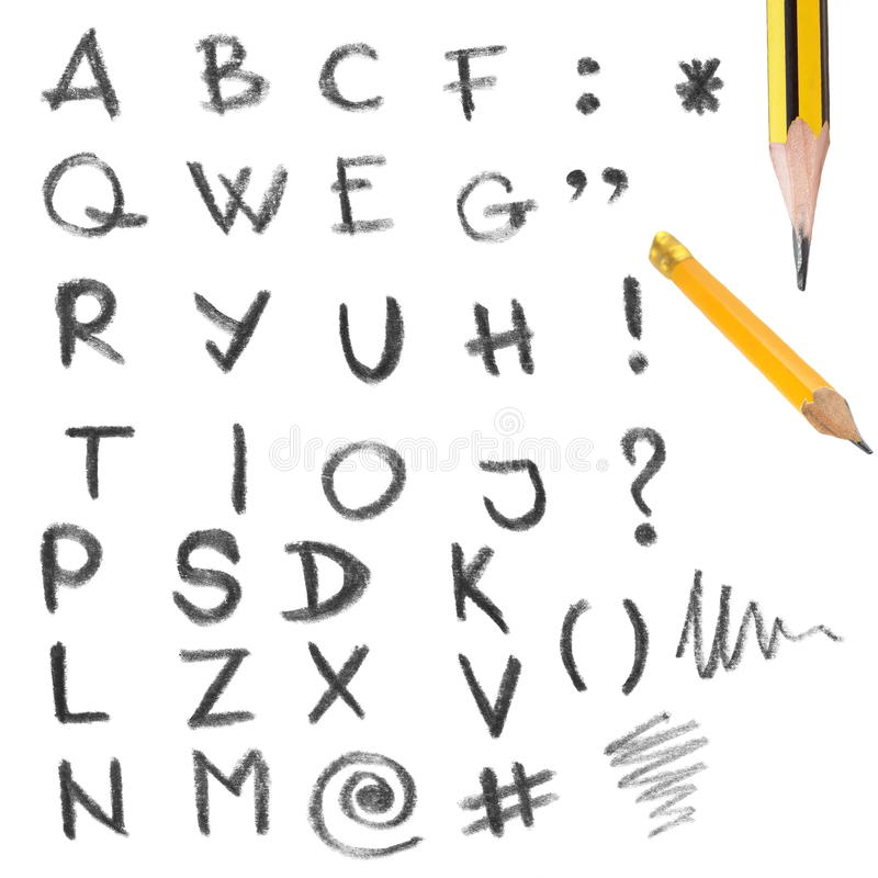 Download Set Of Hand Written Letters And Wooden Pen Stock Image - Image: 25276193
