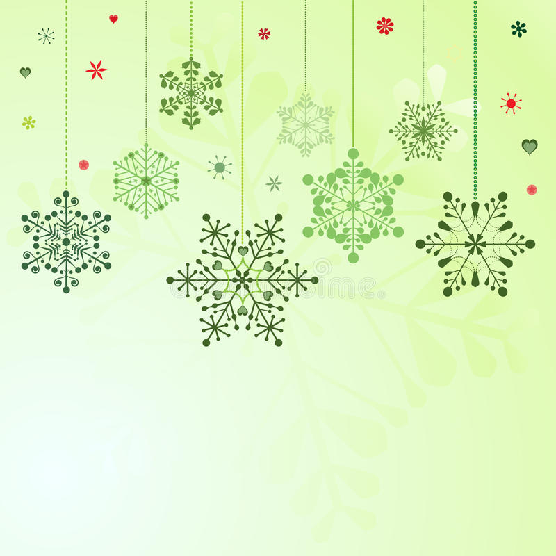 Download Set of hanging snowflakes stock vector. Image of design - 22055529
