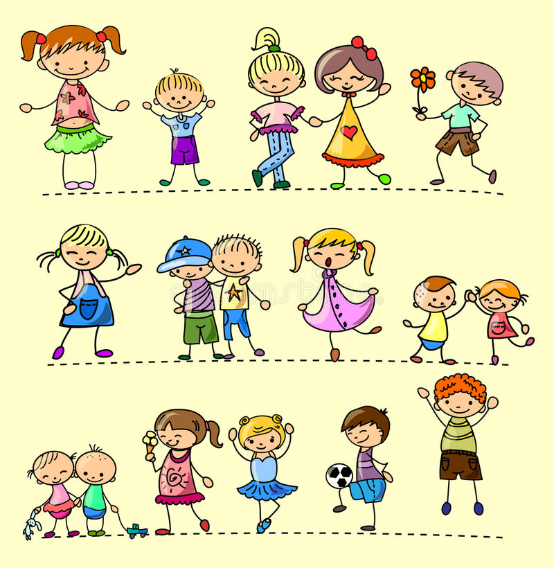 Set happy children,vector vector illustration