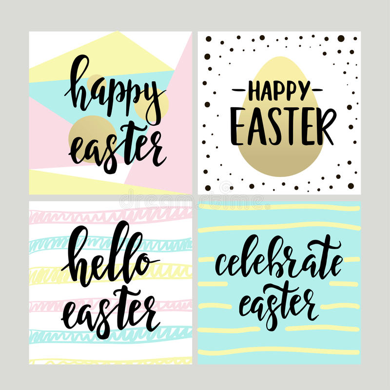 Set with happy easter gift cards with calligraphy handwritten download set with happy easter gift cards with calligraphy handwritten lettering hand drawn design negle Gallery