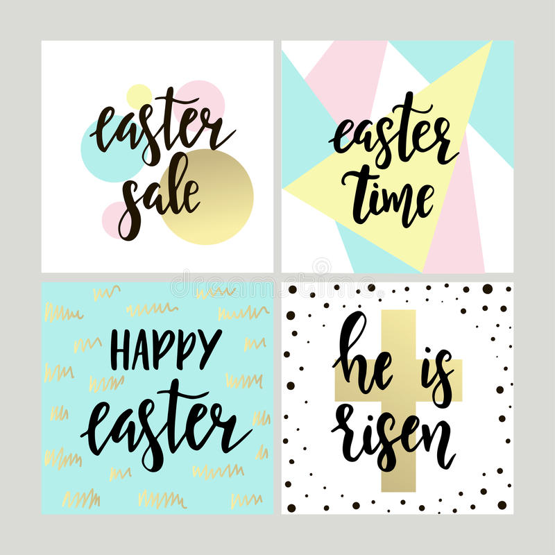 Set with happy easter gift cards with calligraphy handwritten download set with happy easter gift cards with calligraphy handwritten lettering hand drawn design negle Choice Image