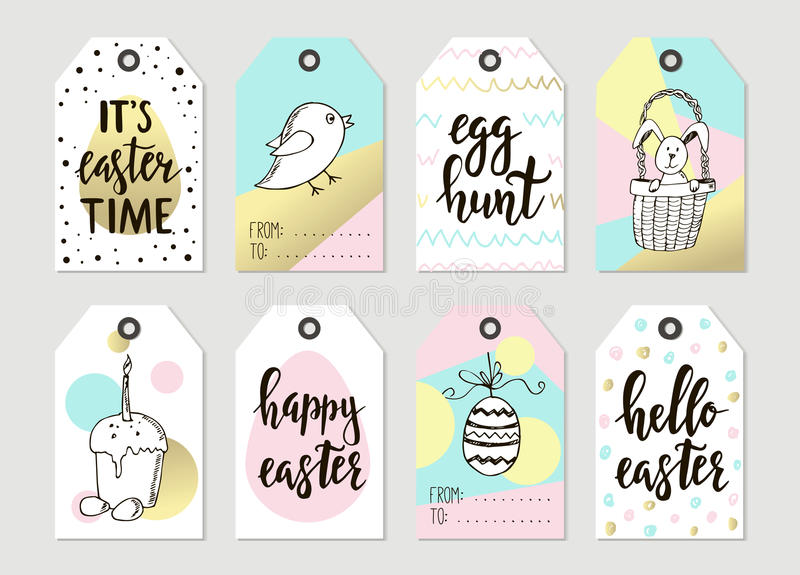 Set with happy easter gift tags and cards with calligraphy set with happy easter gift tags and cards with calligraphy handwritten lettering hand drawn design elements printable items negle Images