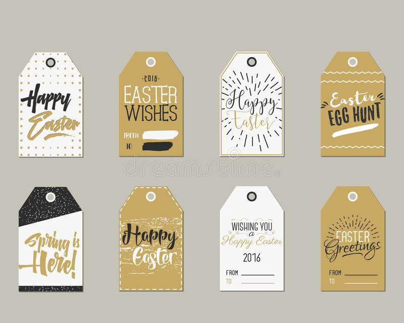 Set of happy easter gift tags with ink lettering signs overlay download set of happy easter gift tags with ink lettering signs overlay labels black negle Images