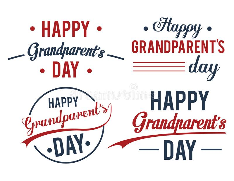 Set of Happy grandparents day banners. Set of Happy grandparents day, banners and posters. vector illustration graphoc design vector illustration