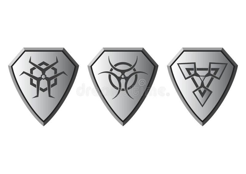 Set of hazard symbols,Vector. royalty free stock images