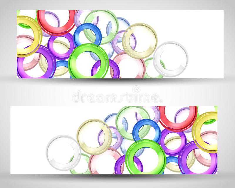 Download Set header card design stock vector. Image of abstract - 24313602