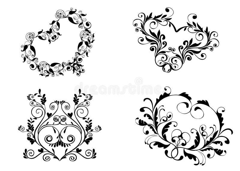Download Set of heart stock vector. Illustration of shape, sign - 14262891