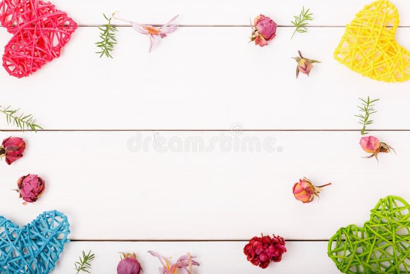set of heart shaped decoration, over white background royalty free stock image