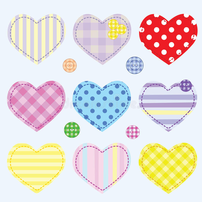 Download Set hearts and buttons stock photo. Image of background - 24310972