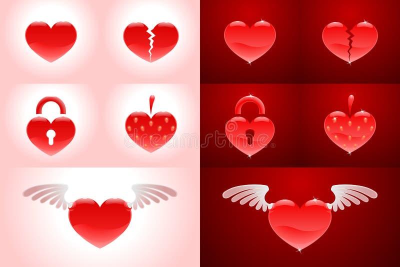 Set of heartshapes