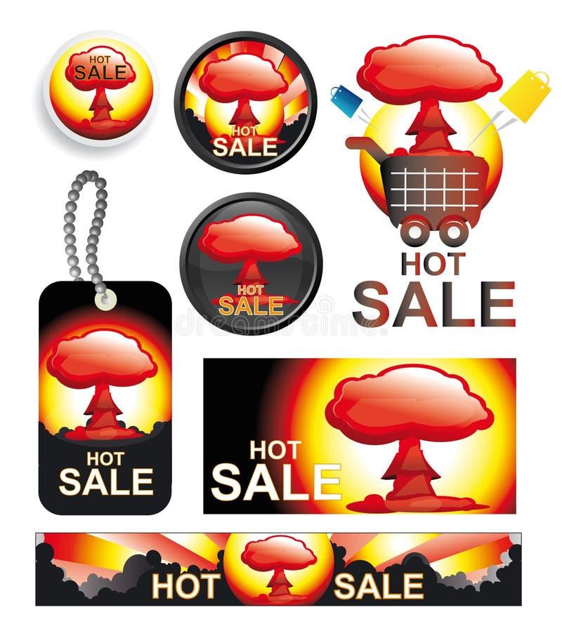 Set heiße Verkaufsvektoren vektor abbildung