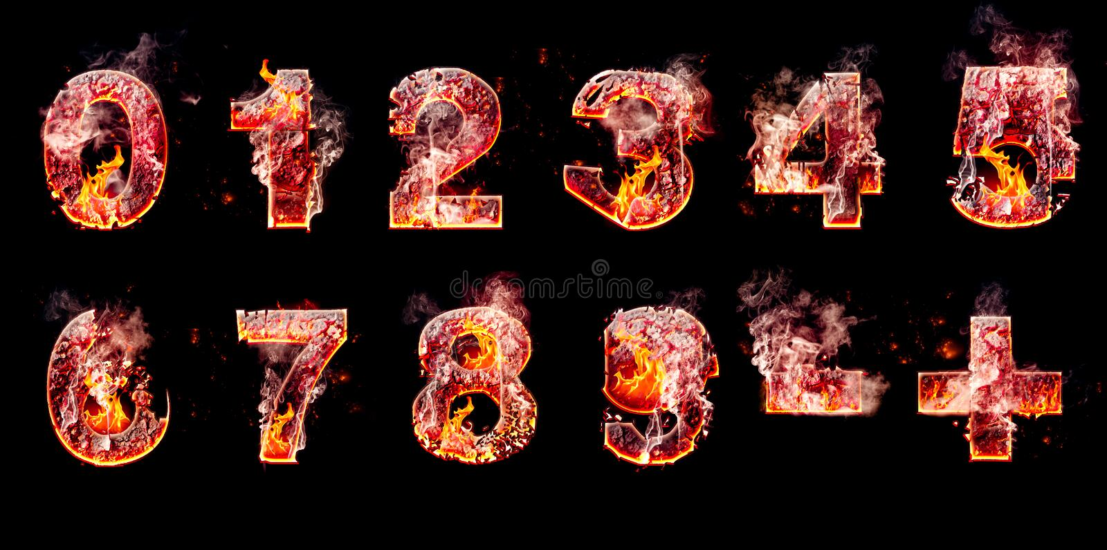 Set of hell burning numbers