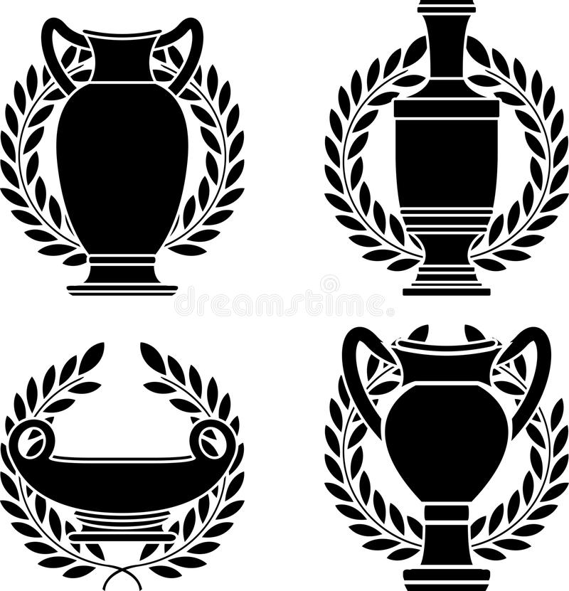 Download Set Of Hellenic Amphoras And Vases Stock Vector - Image: 22198872