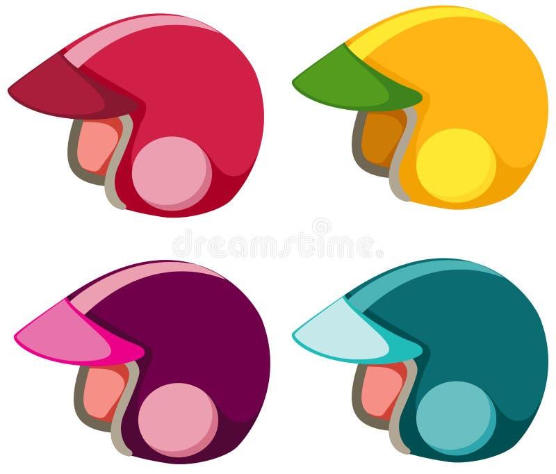 Set of helmet stock illustration