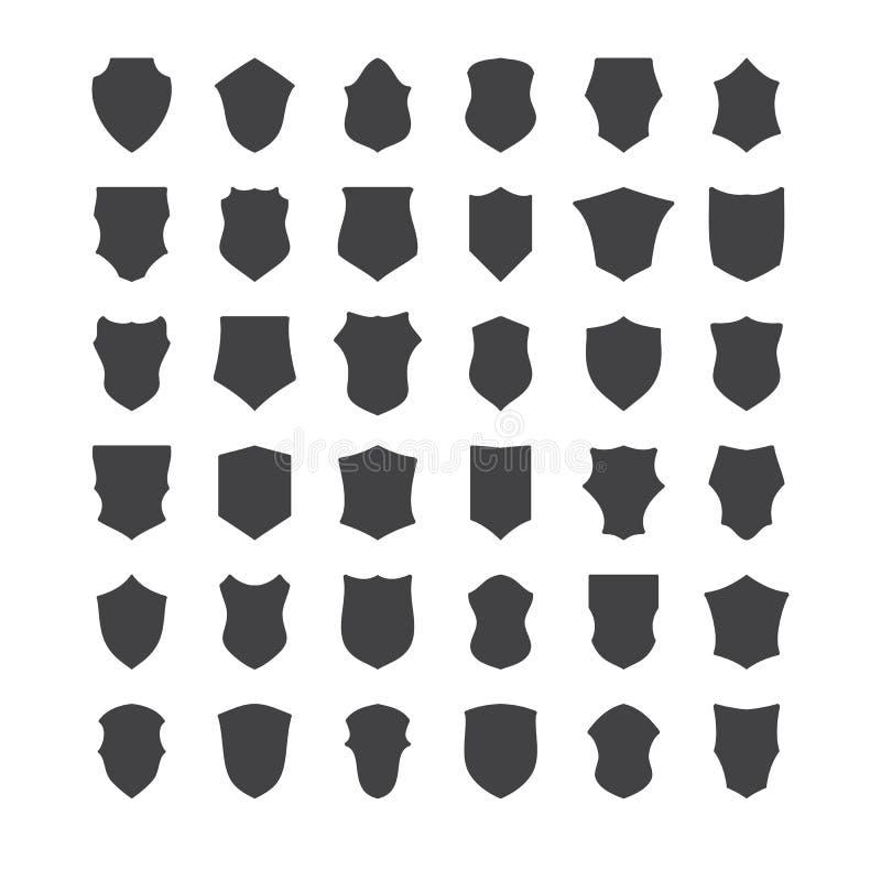 Set heraldische Schilder vektor abbildung