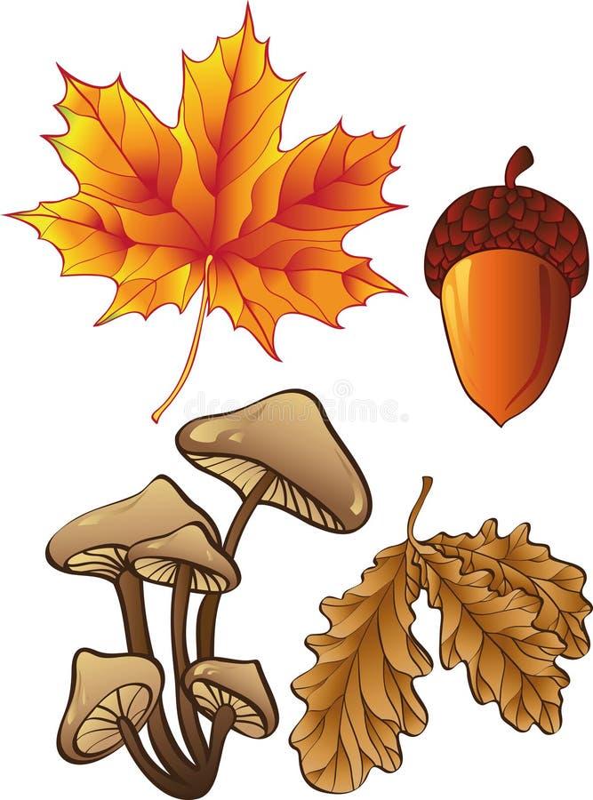 Set Herbstanlagen lizenzfreie abbildung