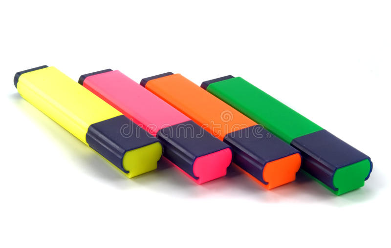 Download Set of highlighters stock photo. Image of multi, marking - 17841932