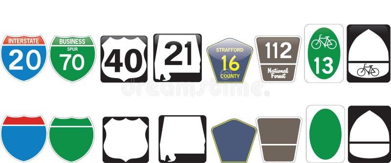 Set for a highway royalty free illustration