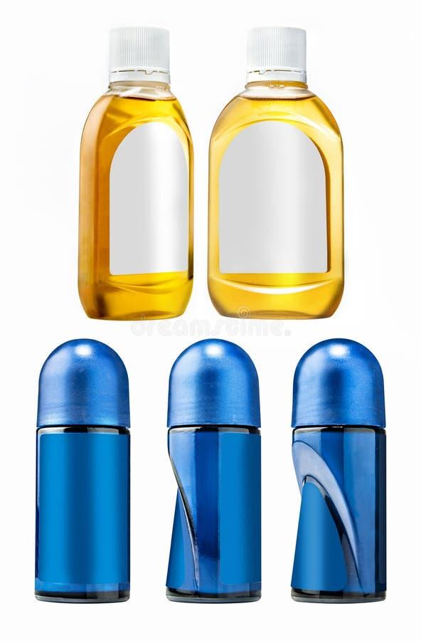 Set higiena produkty butelka i dezodorant zdjęcie stock