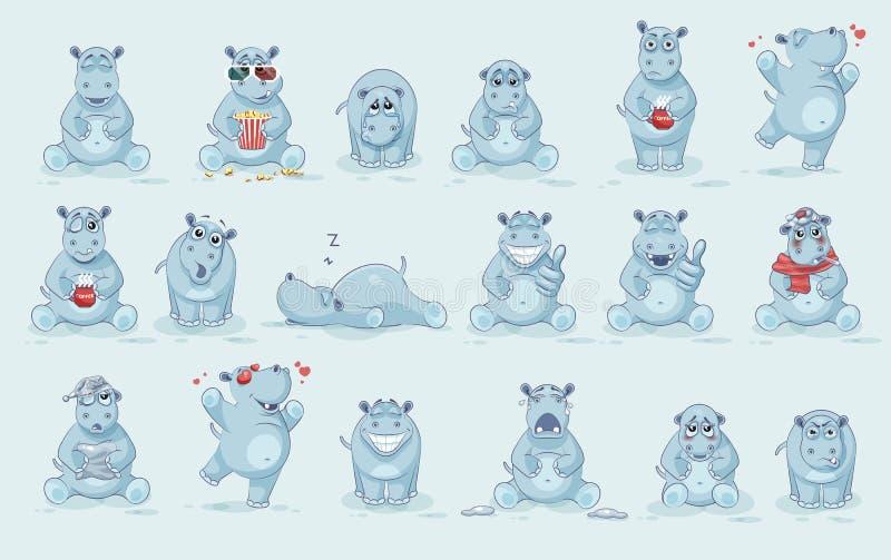 Set hipopotam royalty ilustracja