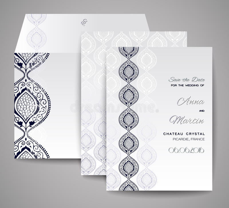 Set Hochzeitskarten Dekorative Einladung, Danke Zu Kardieren ...